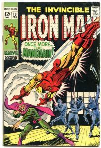IRON MAN #10 1968-Mandarin-Marvel Comic Book vg