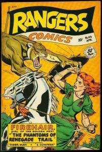 Rangers Comics#46 1949 - Firehair Headlight cover- Fiction House VF+