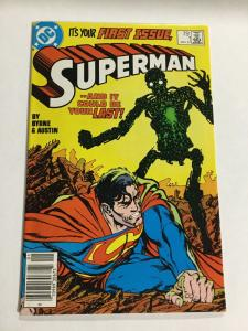 Superman 1 Fn Fine 6.0 First New Metallo DC Comics