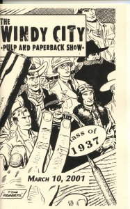 WINDY CITY PULP & PAPERBACK CON PROGRAM BOOK--2001--PULP TITLE REFERENCE INFO