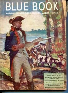 BLUE BOOK PULP-AUG 1948-VG-STOOPS COVER-BEDFORD-JONES-NELSON BOND-BRANDON VG