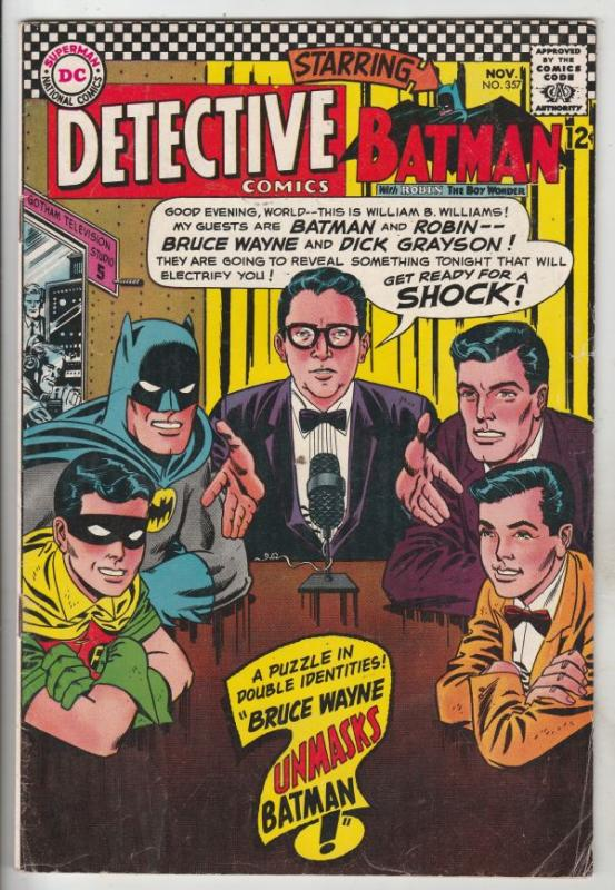 Detective Comics #357 (Nov-66) FN+ Mid-High-Grade Batman