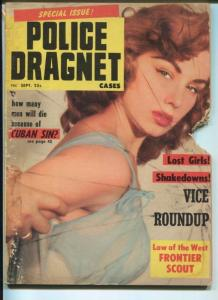 POLICE DRAGNET-09/1958-LOST GIRLS-SHAKEDOWNS-VICE ROUNDUP-SEX TRAPS G
