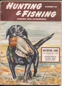 Hunting and Fishing 10/1951-Marge Opitz cover art-pix-info-ads-G/VG