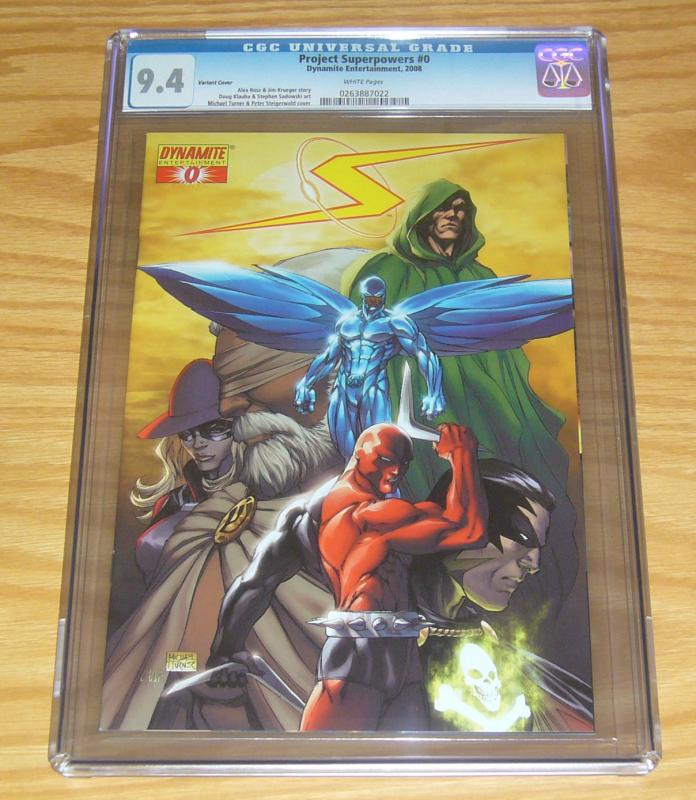 Project Superpowers #0 CGC 9.4 michael turner variant - alex ross - jim krueger
