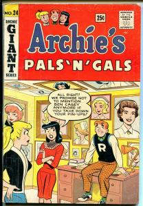 Archie's Pals 'n' Gals #24 1963-Giant Issue-Betty-Veronica-nurse-VG