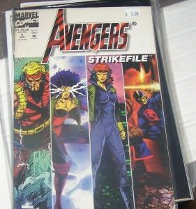 AVENGERS STRIKEFILE #1 JAN 1994 CHRYSTAL INHUMANS HERCULES BLACK
