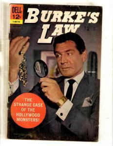 Burke's Law # 3 FN- Dell Silver Age Comic Book Gene Barry Photo Cover TV JL15