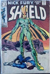 Nick Fury, Agent of SHIELD #8 (1969) LOW GRADE