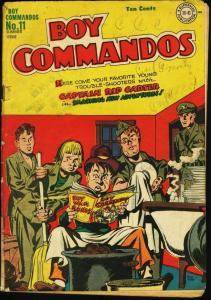 BOY COMMANDOS #11-RARE COMIC-1945-DC-INFINITY-good G