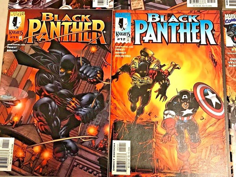BLACK PANTHER#6-14 VF/NM LOT (8 BOOKS) 1998 CHRISTOPHER PRIEST MARVEL COMICS