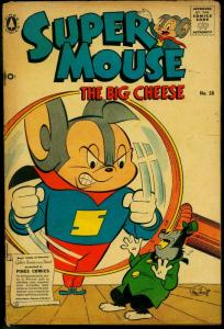 Supermouse The Big Cheese #38 1956- Funny Animals- Pines VG