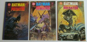 Batman vs Predator #1-3 High Grade NM Complete Set Prestige Format DC Dark Horse