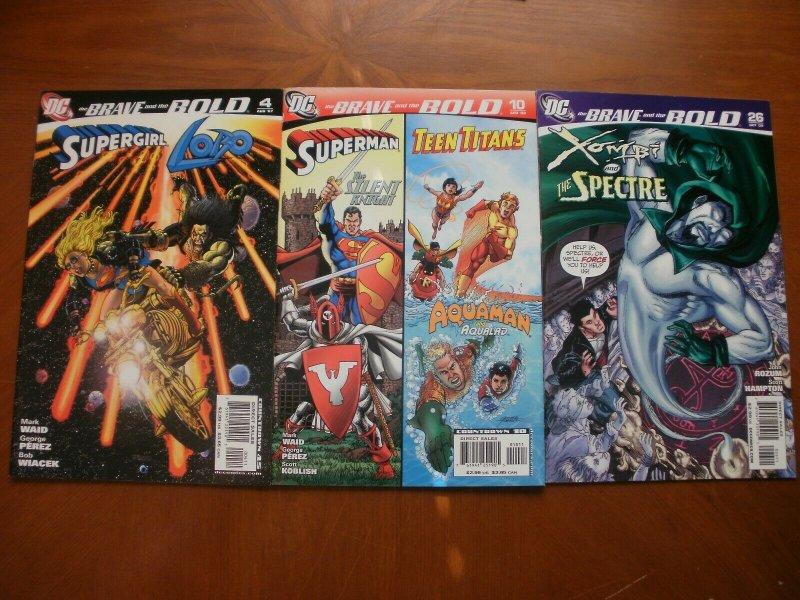 3 DC Comic: BRAVE & BOLD #4 Supergirl Lobo #10 Superman Titans #26 Xombi Spectre