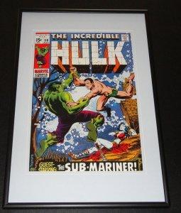 Incredible Hulk #118 Framed 10x14 Cover Poster Photo Sub Mariner