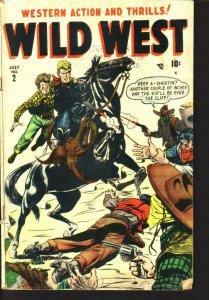 WILD WEST #2 ARIZONA ANNIE TWO-GUN KID SYD SHORES COVER VG