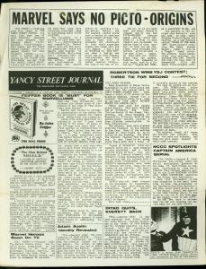 Yancy Street Journal Fanzine #12 1966- Mike Friedrich- Marvel Comics Fandom FN