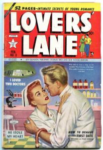 Lovers' Lane #3 1950- Golden Age Romance- Guardineer- Bob Lubbers VG/F