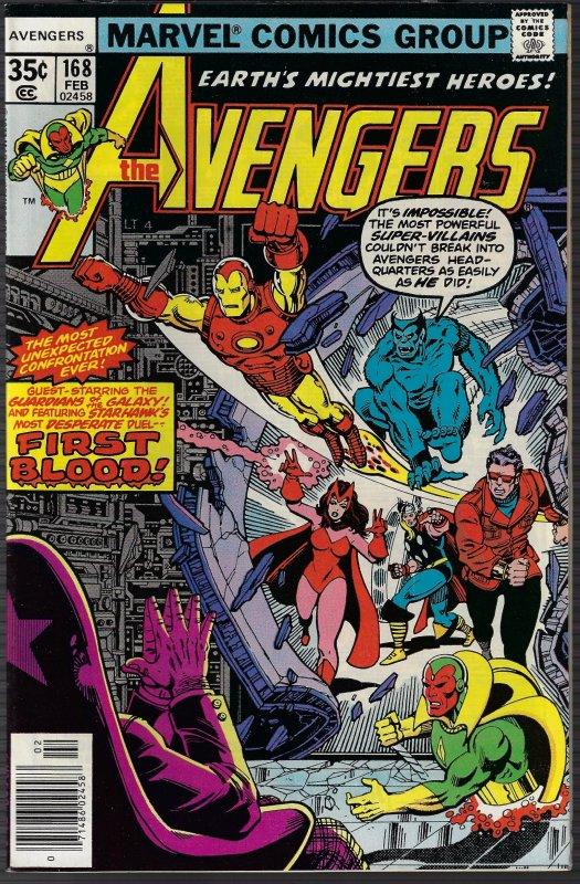 Avengers #168 (Marvel, 1978) NM