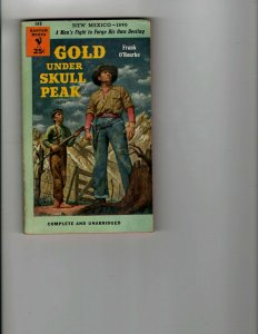 3 Books Gold Under Skull Peak Lost Wolf River Nina Western Mystery Thriller JK11