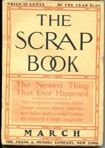 SCRAP BOOK-MARCH 1906-FIRST ISSUE-ALEXANDRE DUMAS-PULP FICTION