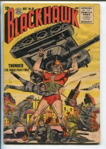 BLACKHAWK #88 1955-QUALITY-TANK-THUNDER-vg minus