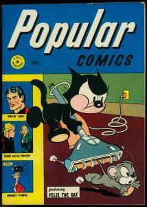 Popular Comics #122 1946- Terry & the Pirates- Felix the Cat Golden Age FN/VF