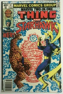 MARVEL TWO-IN-ONE#61 FN/VF 1980 BRONZE AGE COMICS