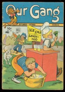 OUR GANG #19 1945-WILD GOAT COVER-DELL COMICS-BARKS ART G