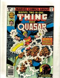 Marvel Two-In-One # 53 VF- Comic Book Thing & Quasar Avengers Fantastic Four WS9