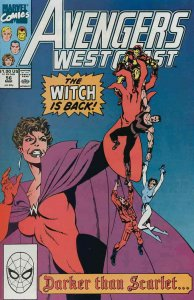 Avengers West Coast #56 VF; Marvel   save on shipping - details inside