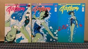1987 FATHOM Comics, Complete Mini Series #1-2-3, Modern Age,Comico Comics C1101A