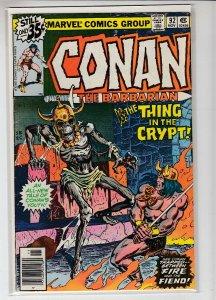 CONAN THE BARBARIAN (1970 MARVEL) #92 FN A02220