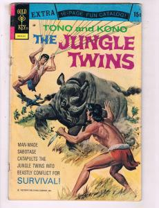 Tono & Kono The Jungle Brothers #4 VG Dell Gold Key Comic Book 1974 DE7