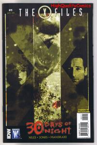 X-FILES - 30 DAYS of NIGHT #5, NM, Fox Mulder, Scully, 2010, more XF in store