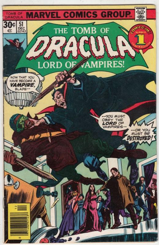 Tomb of Dracula #51 (Dec-76) FN/VF Mid-High-Grade Dracula