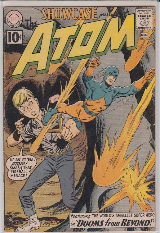 Showcase #35 (Nov 1961, DC) Very Good Fine Early Silver Age Atom Gil Kane Art