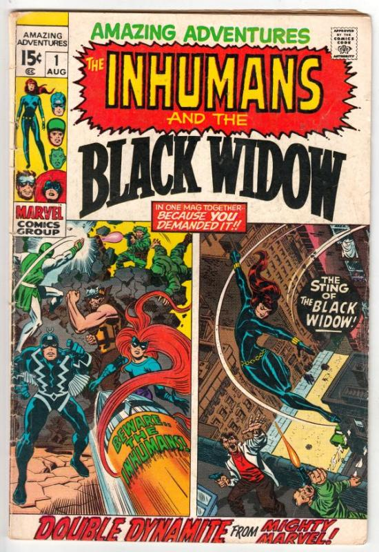 Amazing Adventures #1 (Aug-70) VG+ Affordable-Grade Black Widow, Inhumans