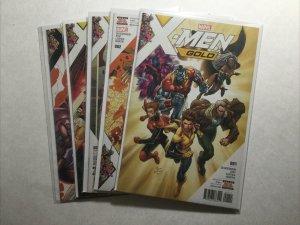 X-Men Gold 1 2 3 4 5 Lot Run Set Near Mint Nm Marvel