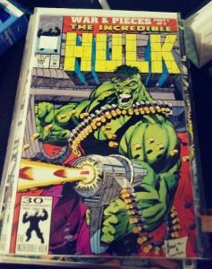 Incredible Hulk  # 390 feb 1992 MARVEL war and pieces  pt 1 x factor