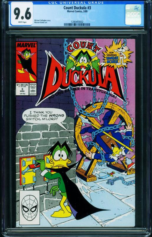 Count Duckula #3 CGC 9.6 First appearance of DANGER MOUSE- 1280493002
