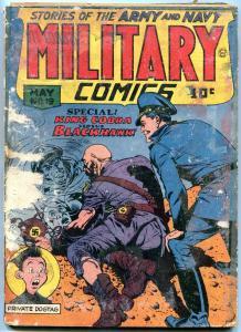 MILITARY COMICS #19- Blackhawk- Reed Crandall- King Cobra FAIR