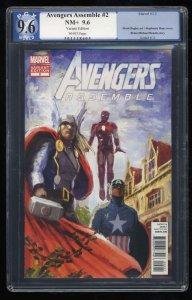Avengers Assemble #2 PGX NM+ 9.6 White Pages Variant!
