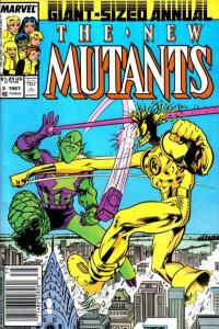 New Mutants (1983 series) Annual #3, VF- (Stock photo)