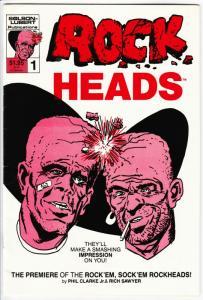Rock Heads #1 (Lubert, 1986) VG/FN