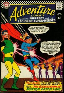 ADVENTURE COMICS #345 1966-SUPERBOY LEGION SUPER-HEROES FN