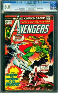 Avengers #116 CGC Graded 8.0 Defenders crossover.