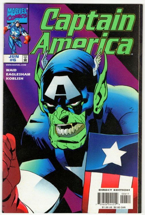 CAPTAIN AMERICA #6 (9.2) No Resv! 1¢ Auction! See More!!!