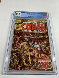 Conan The Barbarian 24 Cgc 9.6 Ow/w Pages 1st Red Sonja Marvel Bronze Age