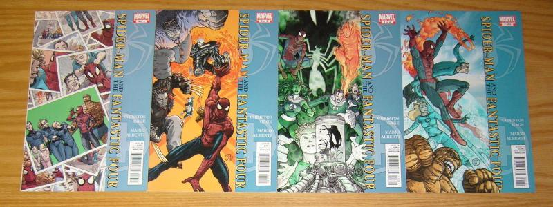Spider-Man/Fantastic Four #1-4 VF/NM complete series - christos gage set lot 2 3